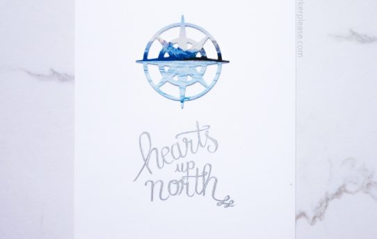 hearts up north winter card