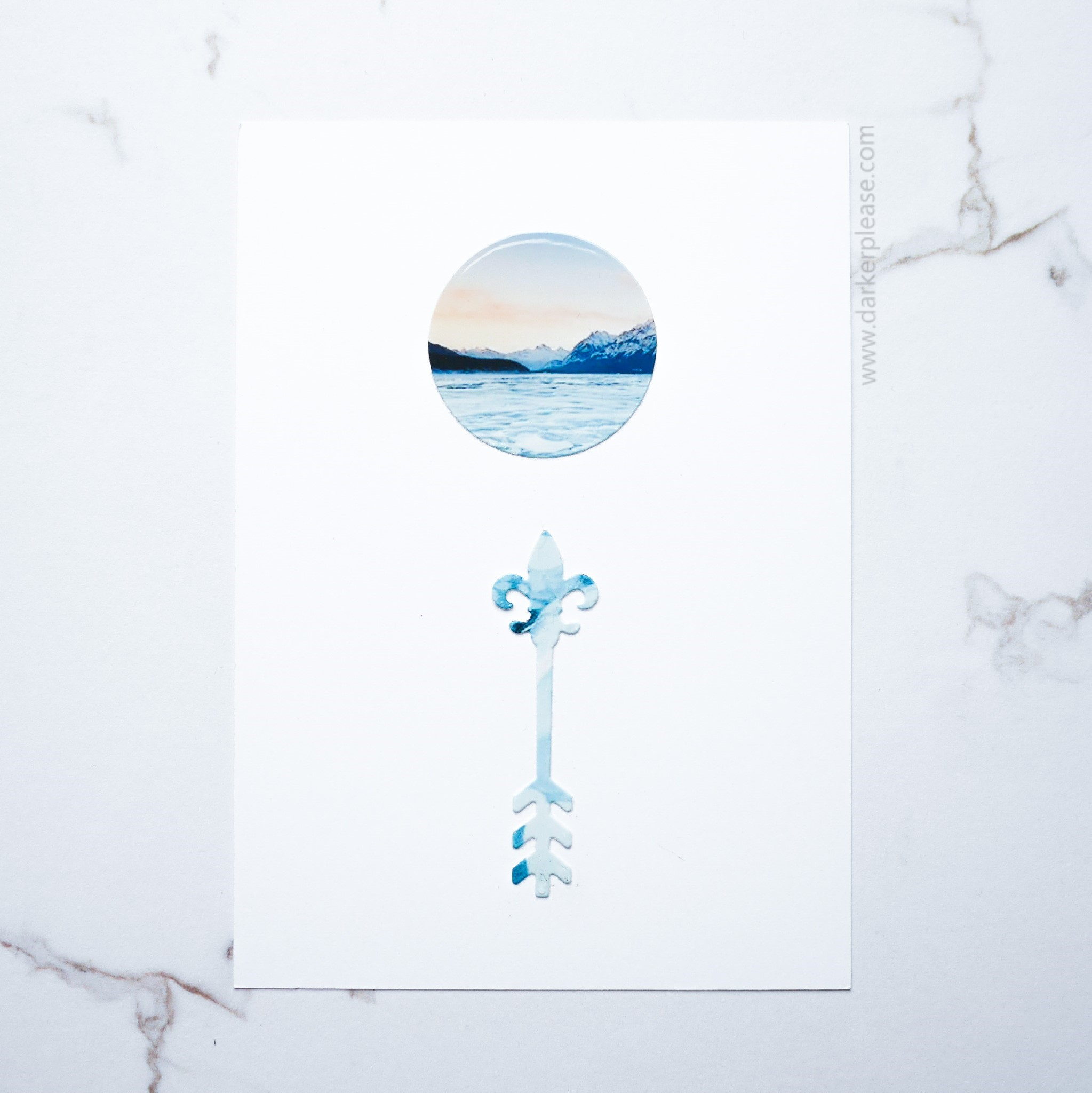 minimalist winter dreams card